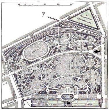 alte gezeichnete Karte